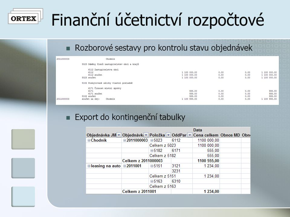 Finanční účetnictví rozpočtové