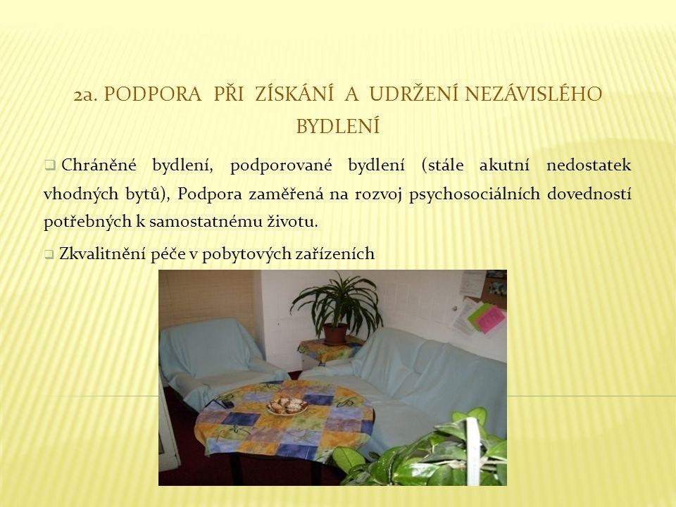2a. Podpora při získání a udržení nezávislého bydlení
