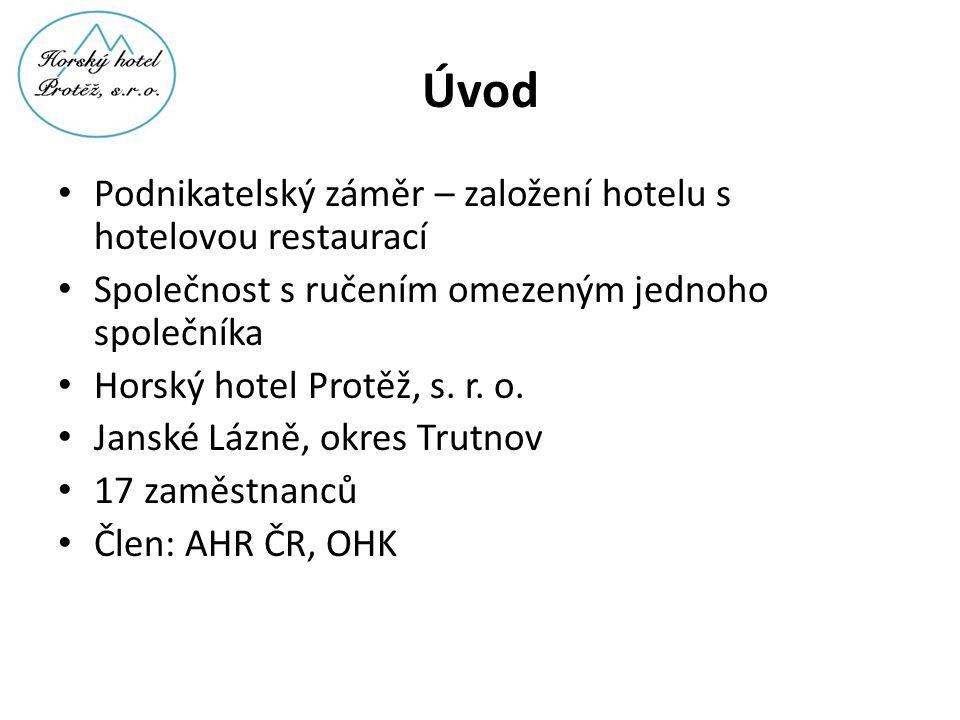Úvod Podnikatelský záměr – založení hotelu s hotelovou restaurací