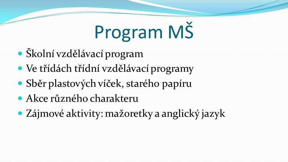 Program MŠ Školní vzdělávací program