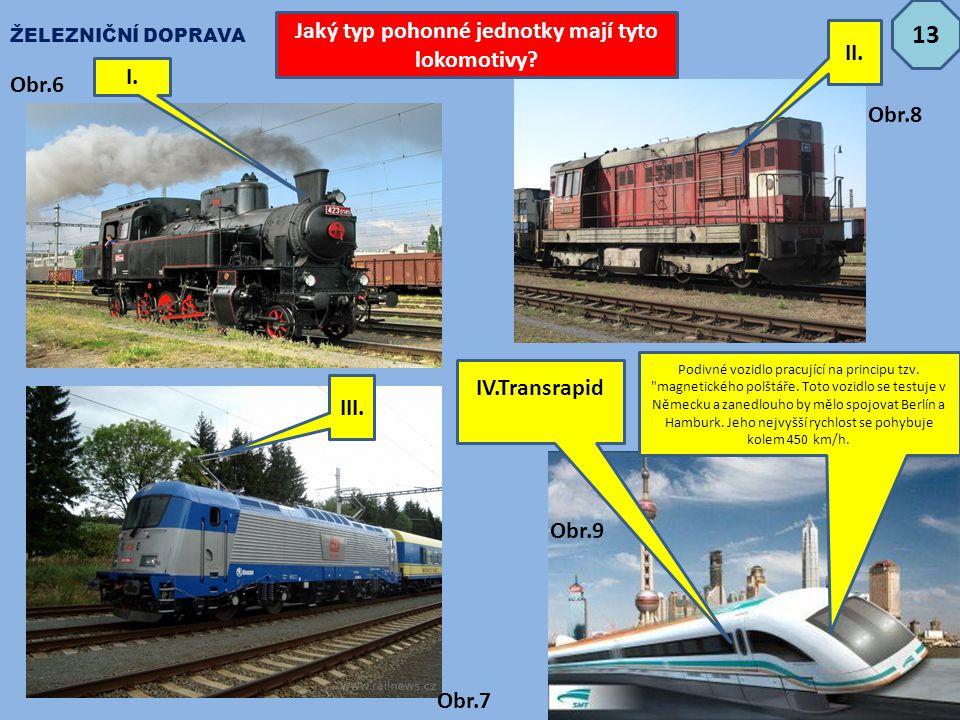 Jaký typ pohonné jednotky mají tyto lokomotivy