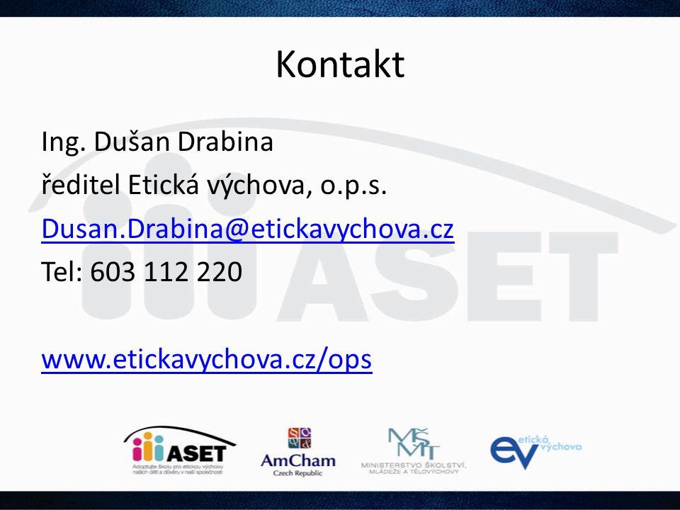Kontakt Ing. Dušan Drabina ředitel Etická výchova, o.p.s.