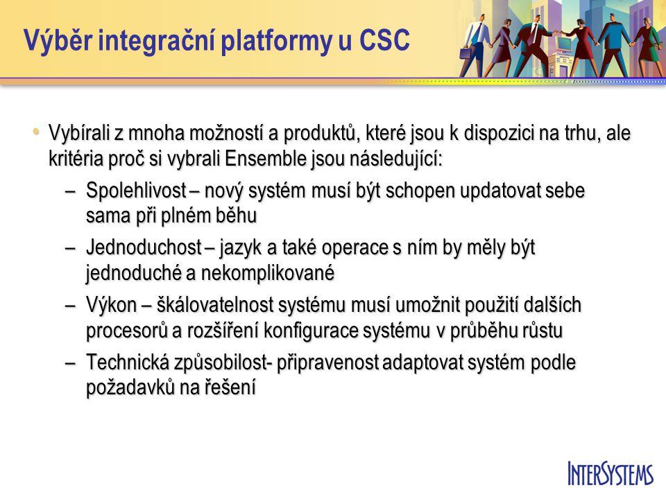 Výběr integrační platformy u CSC