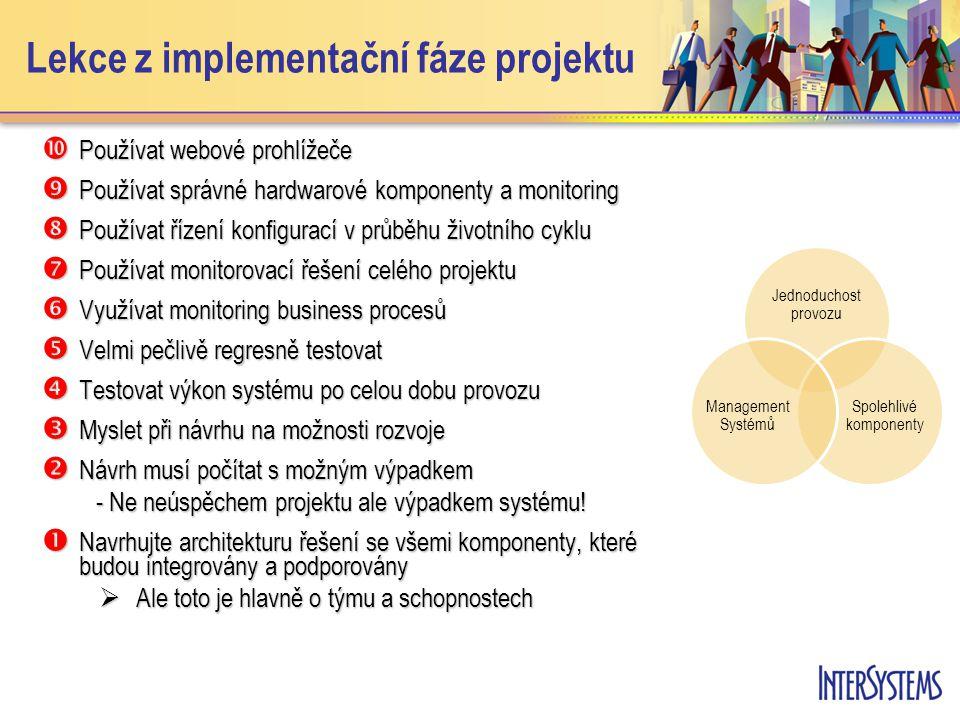 Lekce z implementační fáze projektu