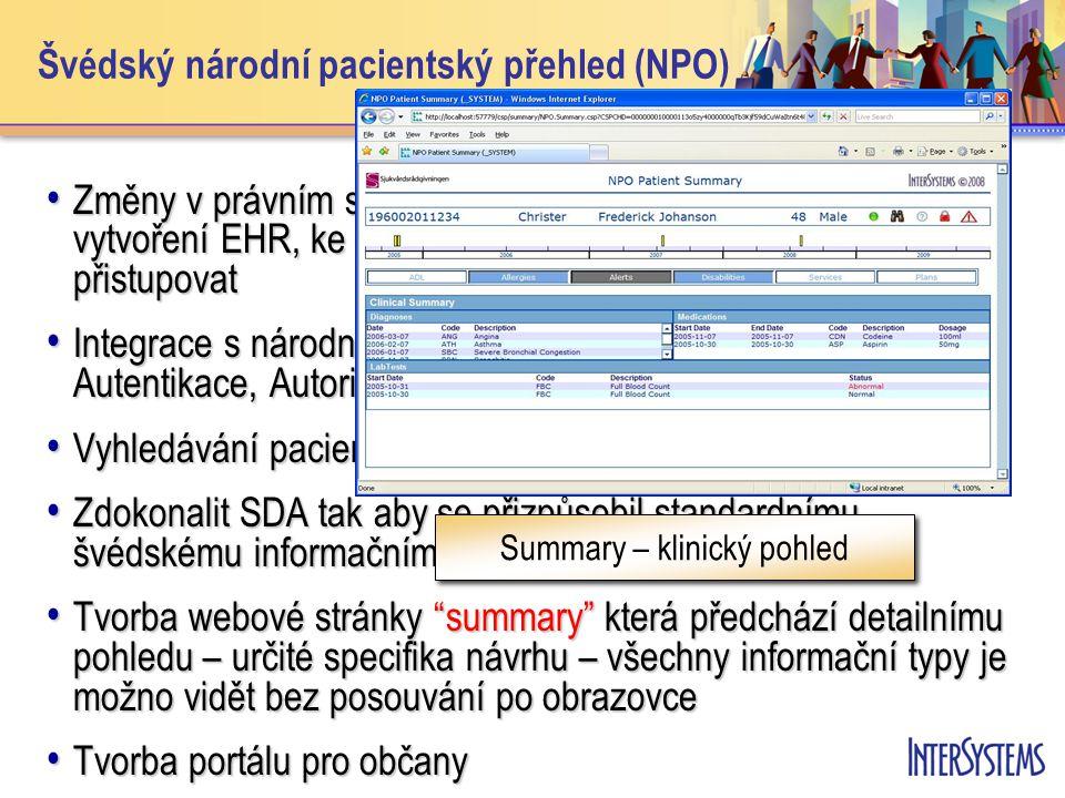 Švédský národní pacientský přehled (NPO)