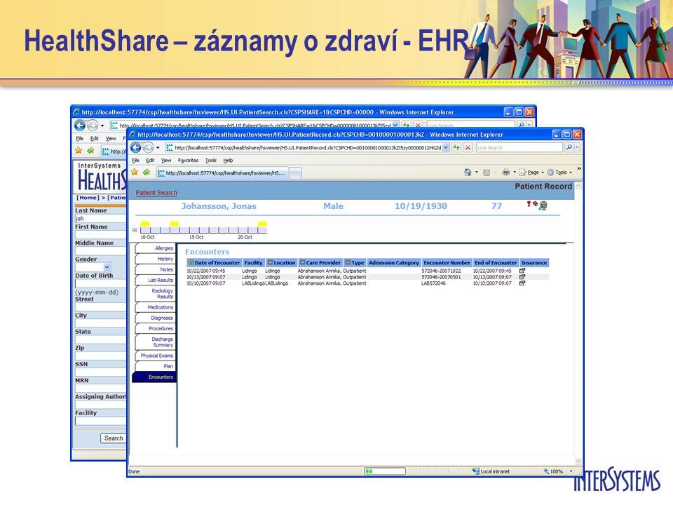 HealthShare – záznamy o zdraví - EHR