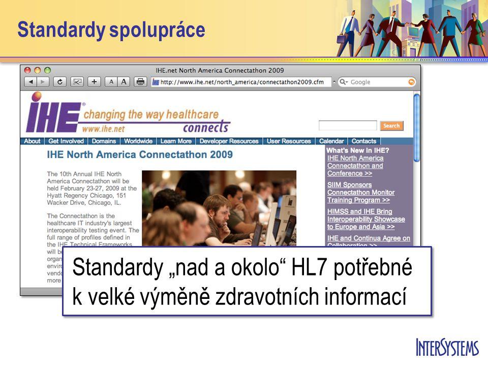 """Standardy spolupráce Standardy """"nad a okolo HL7 potřebné k velké výměně zdravotních informací."""