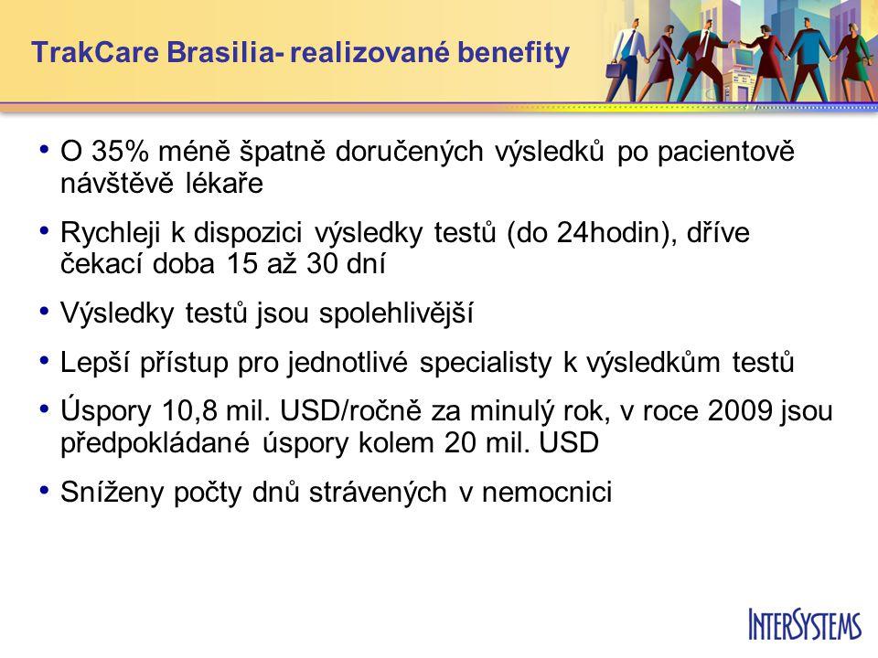 TrakCare Brasilia- realizované benefity