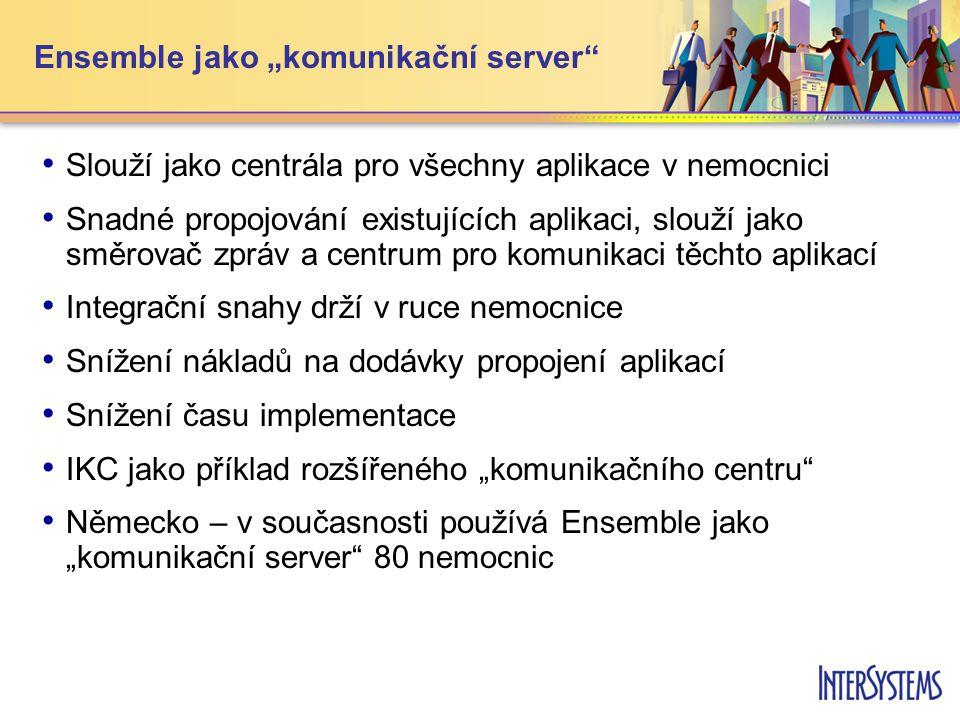 """Ensemble jako """"komunikační server"""