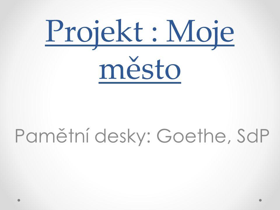 Pamětní desky: Goethe, SdP