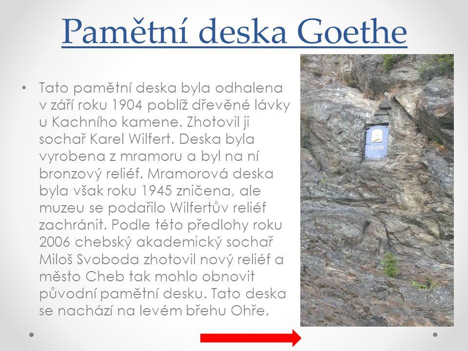 Pamětní deska Goethe