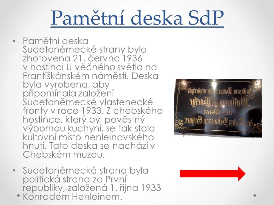 Pamětní deska SdP