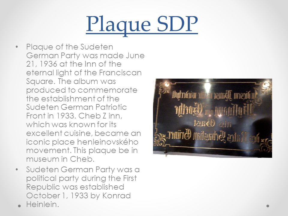 Plaque SDP