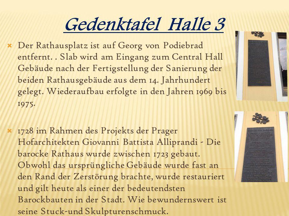 Gedenktafel Halle 3