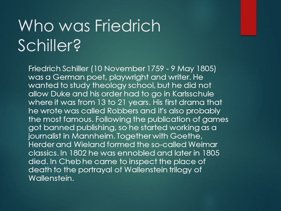 Who was Friedrich Schiller