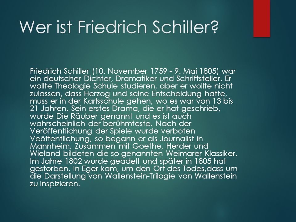 Wer ist Friedrich Schiller