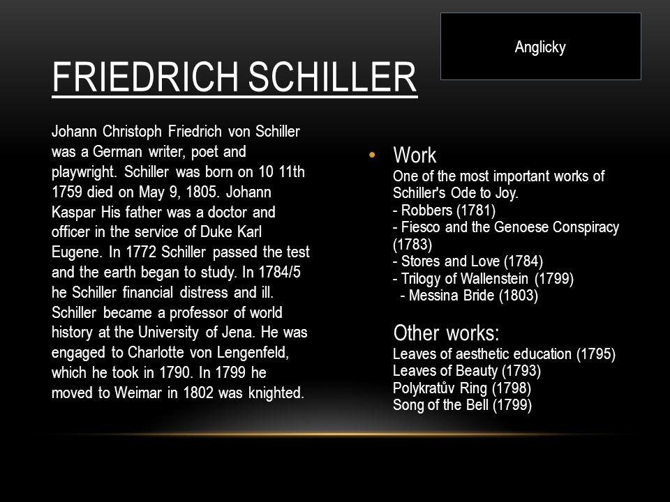 Anglicky Friedrich Schiller.