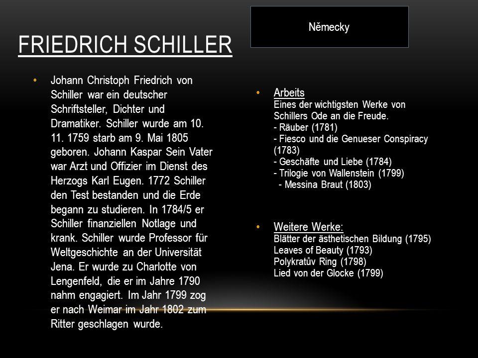 Friedrich Schiller Německy