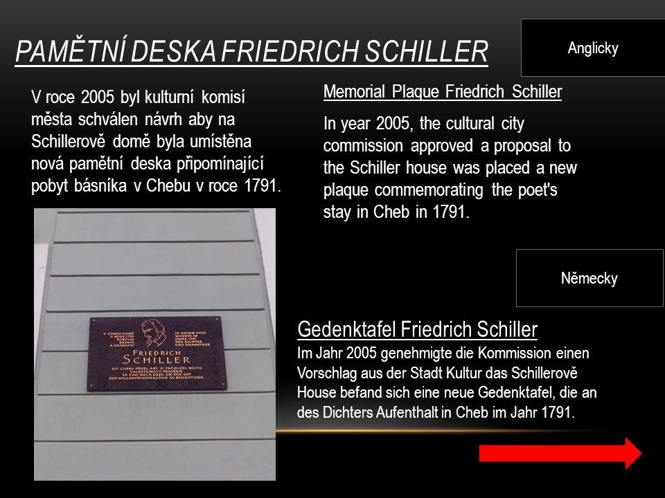 Pamětní deska Friedrich Schiller