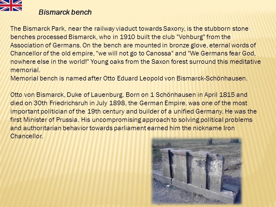 Bismarck bench