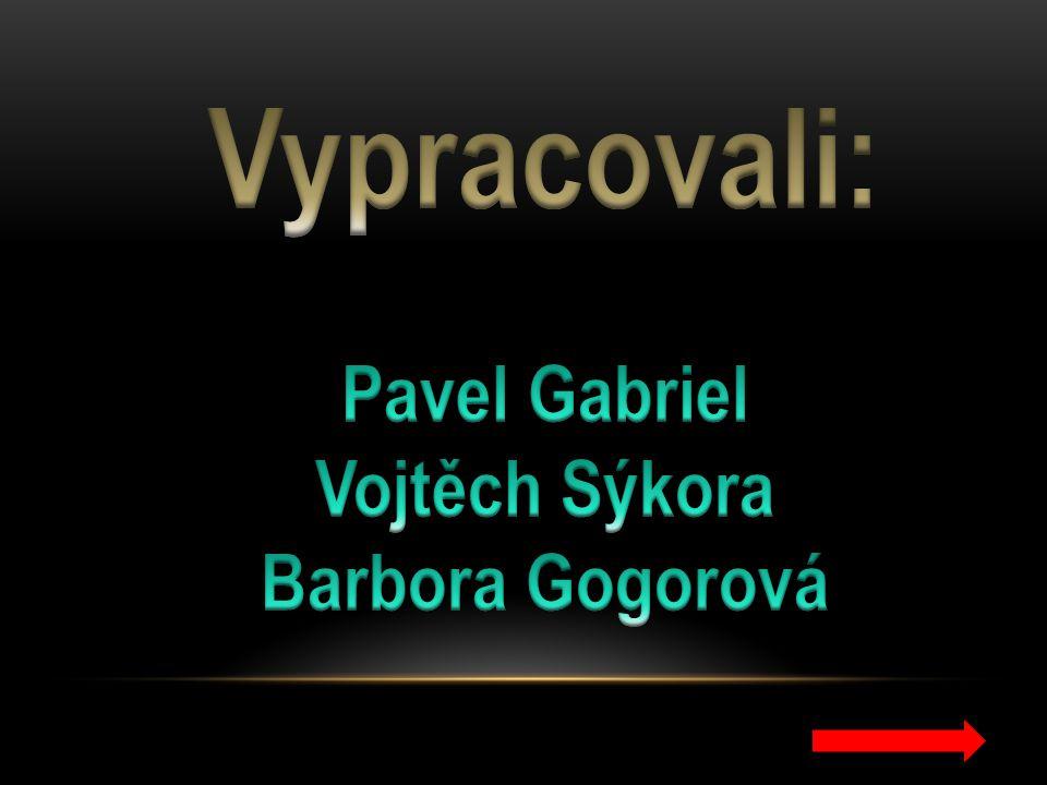 Vypracovali: Pavel Gabriel Vojtěch Sýkora Barbora Gogorová