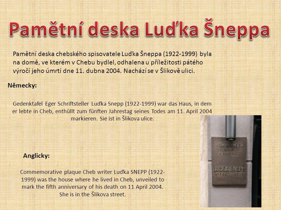 Pamětní deska Luďka Šneppa