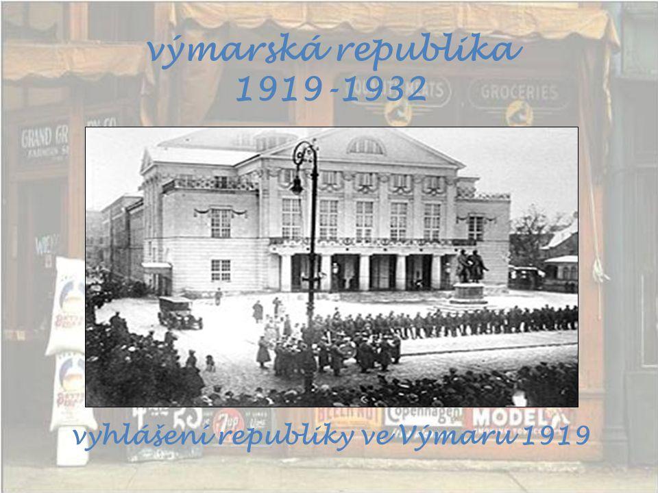 vyhlášení republiky ve Výmaru 1919