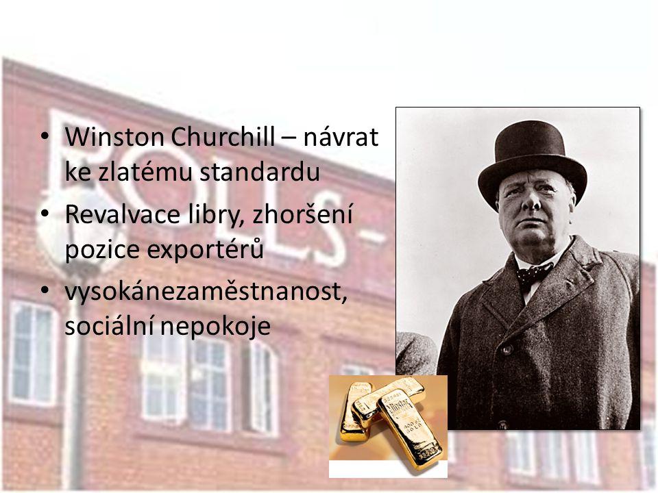 Winston Churchill – návrat ke zlatému standardu