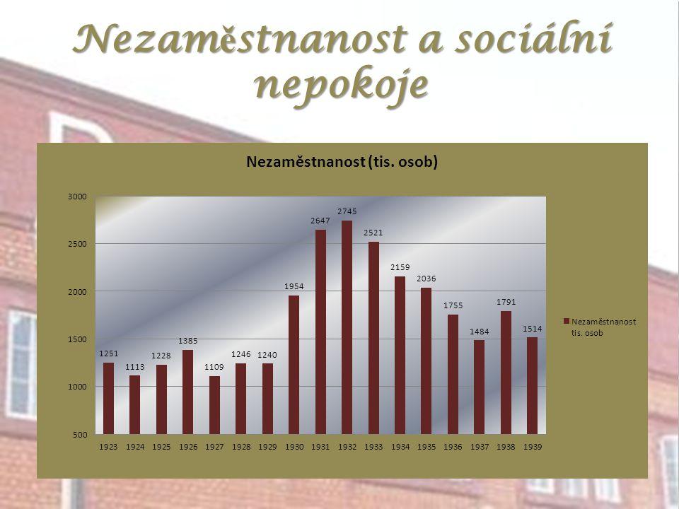 Nezaměstnanost a sociální nepokoje