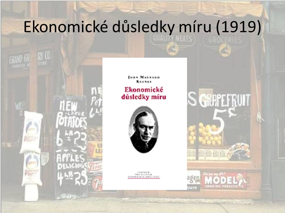Ekonomické důsledky míru (1919)