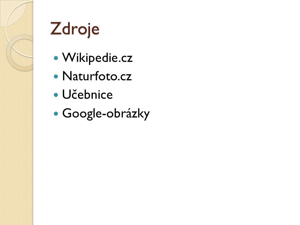 Zdroje Wikipedie.cz Naturfoto.cz Učebnice Google-obrázky