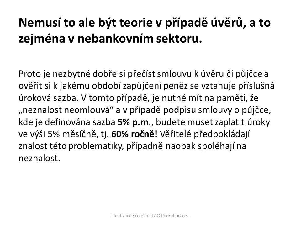 Realizace projektu: LAG Podralsko o.s.