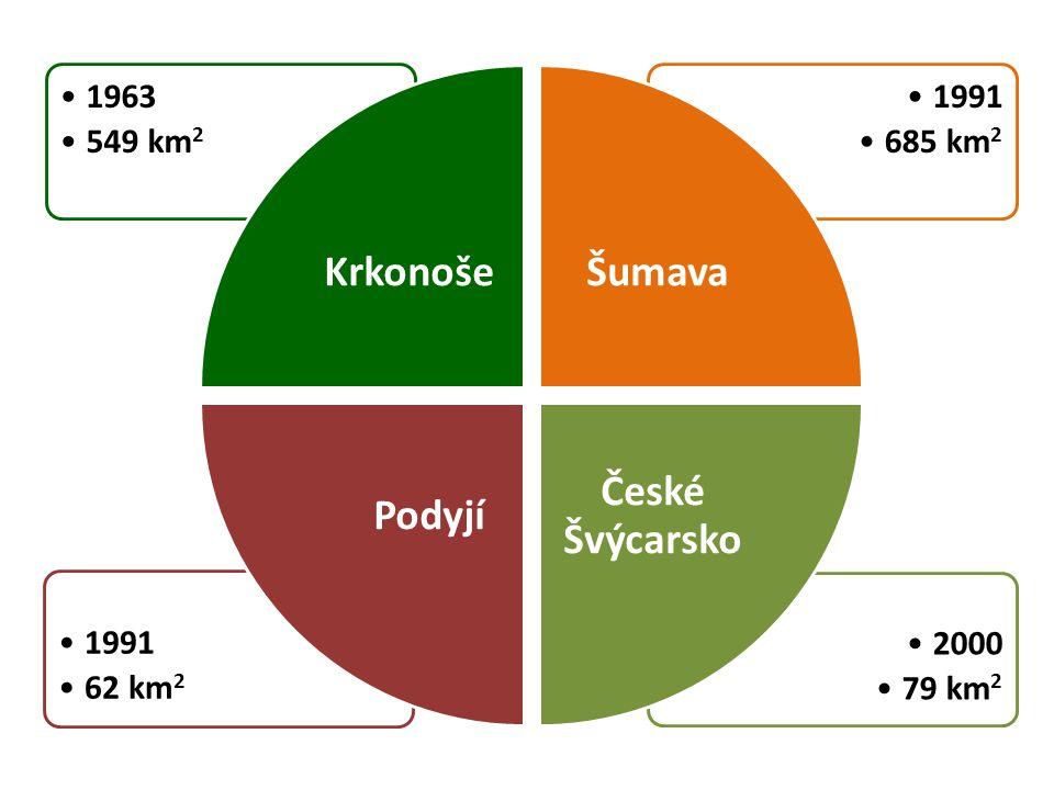 Krkonoše Šumava České Švýcarsko Podyjí