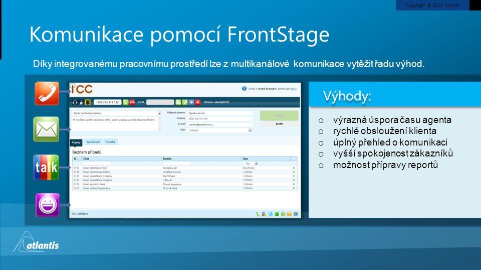Komunikace pomocí FrontStage