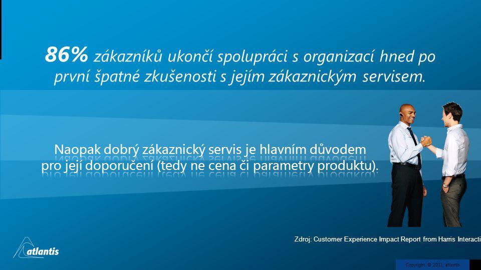 86% zákazníků ukončí spolupráci s organizací hned po první špatné zkušenosti s jejím zákaznickým servisem.