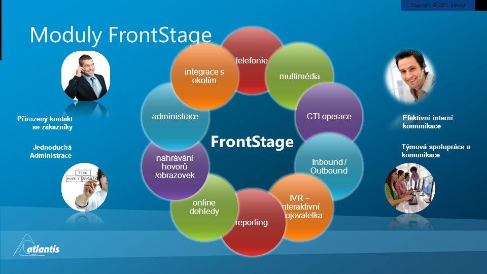 Moduly FrontStage FrontStage telefonie integrace s okolím multimédia