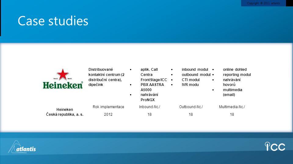 Case studies Heineken. Česká republika, a. s. Distribuované kontaktní centrum (2 distribuční centra), dipečink.