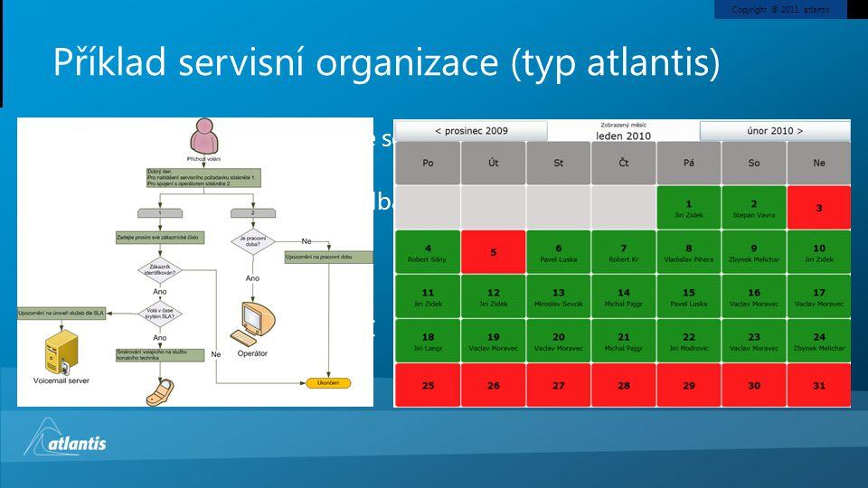 Příklad servisní organizace (typ atlantis)