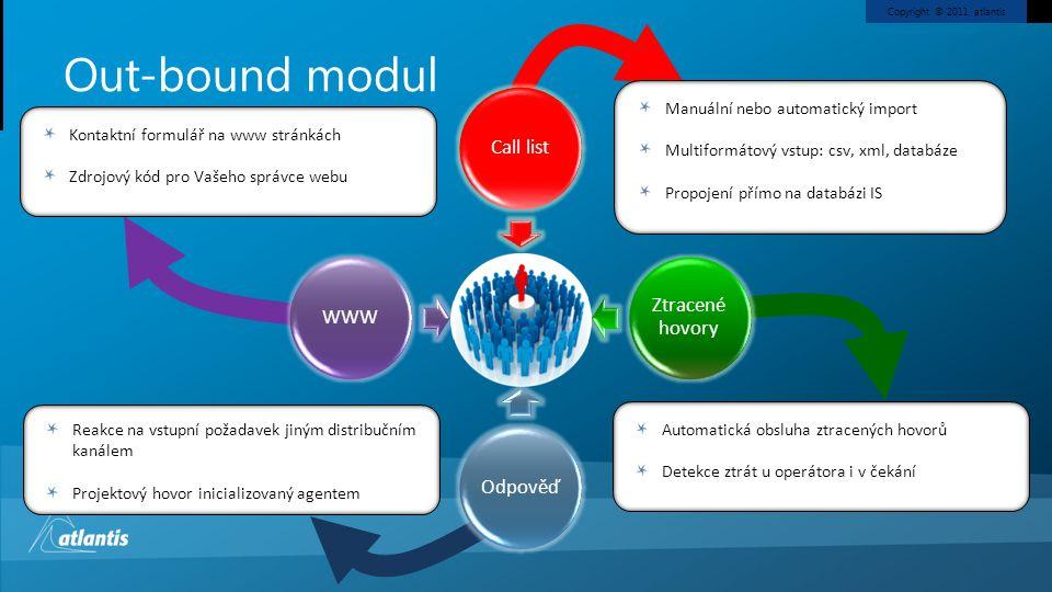 Out-bound modul Manuální nebo automatický import