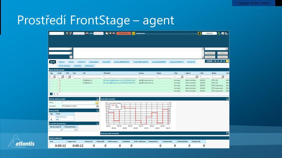 Prostředí FrontStage – agent