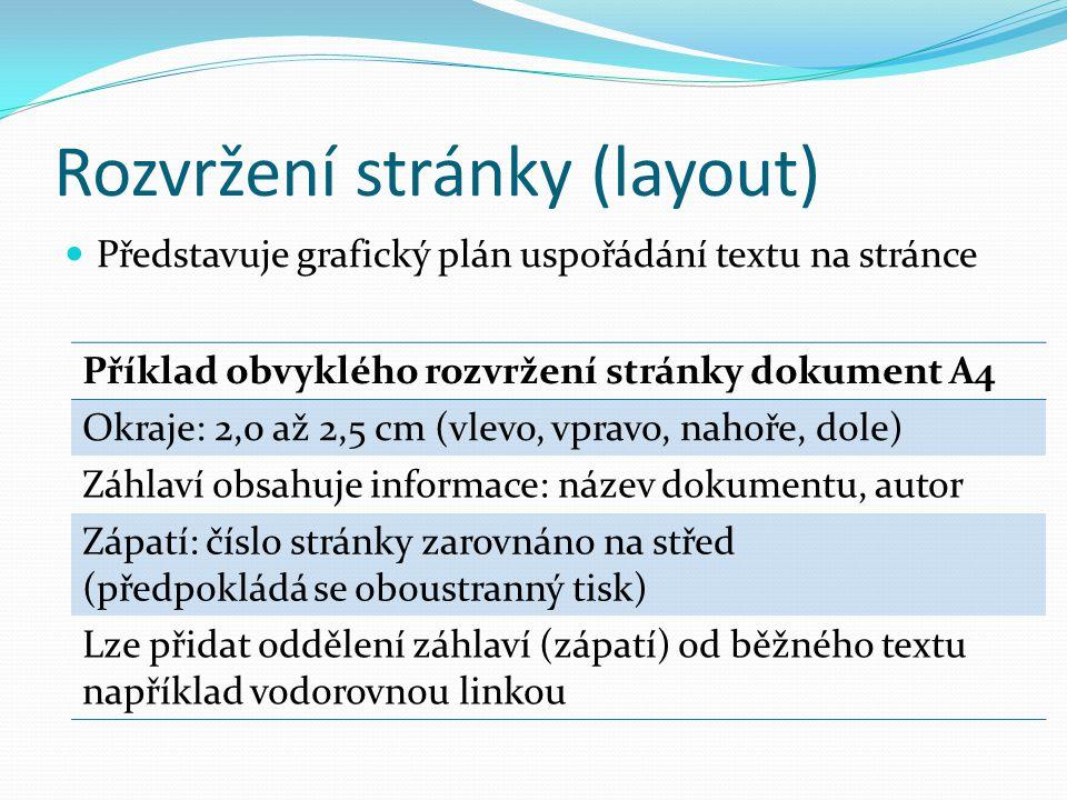 Rozvržení stránky (layout)
