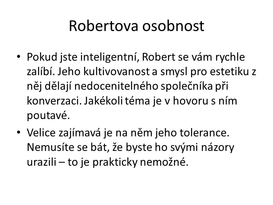 Robertova osobnost
