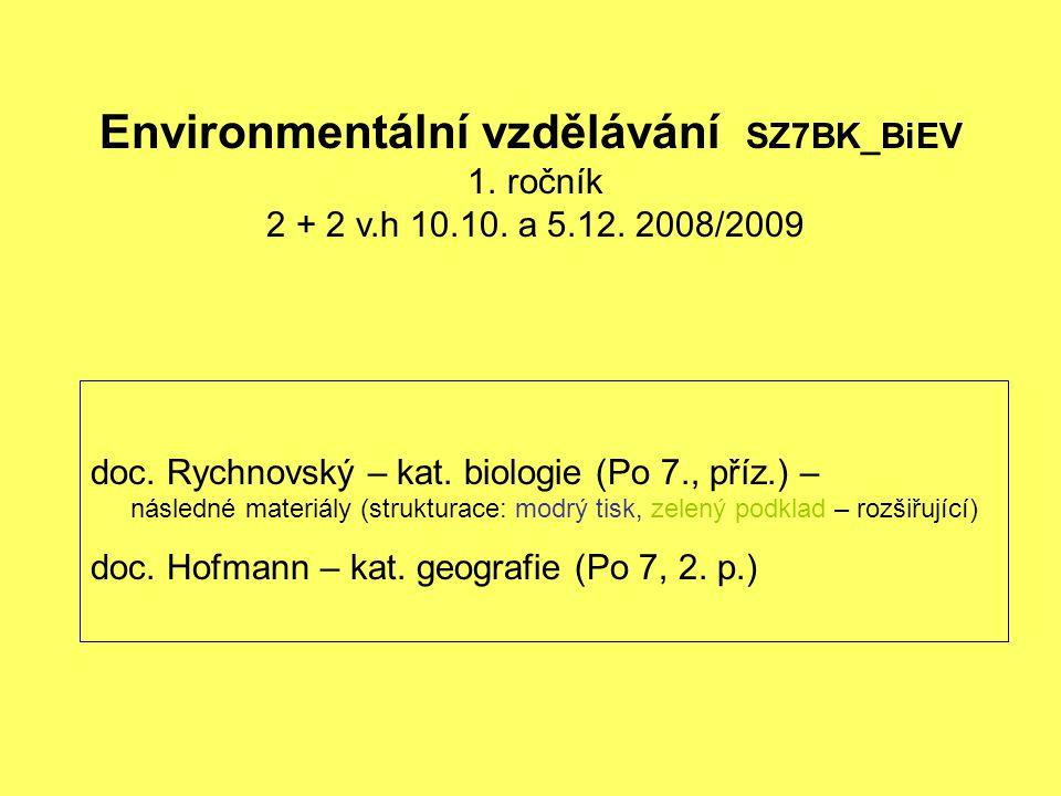 Environmentální vzdělávání SZ7BK_BiEV