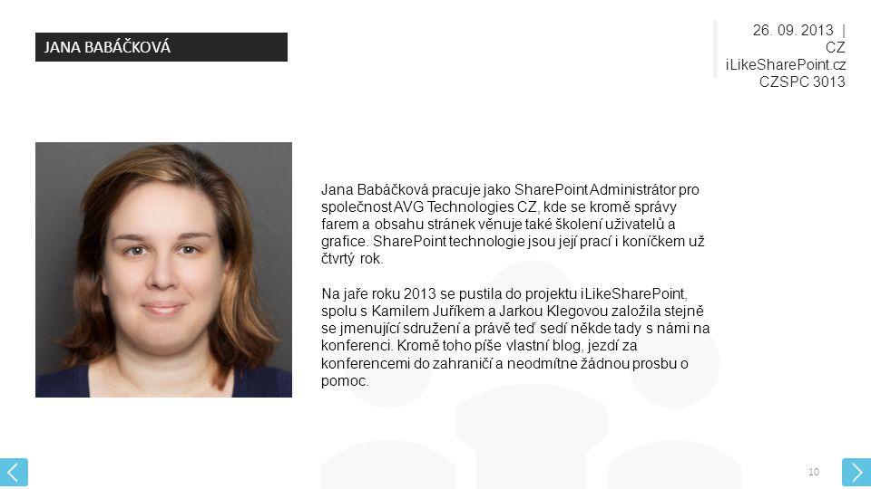 JANA BABÁČKOVÁ