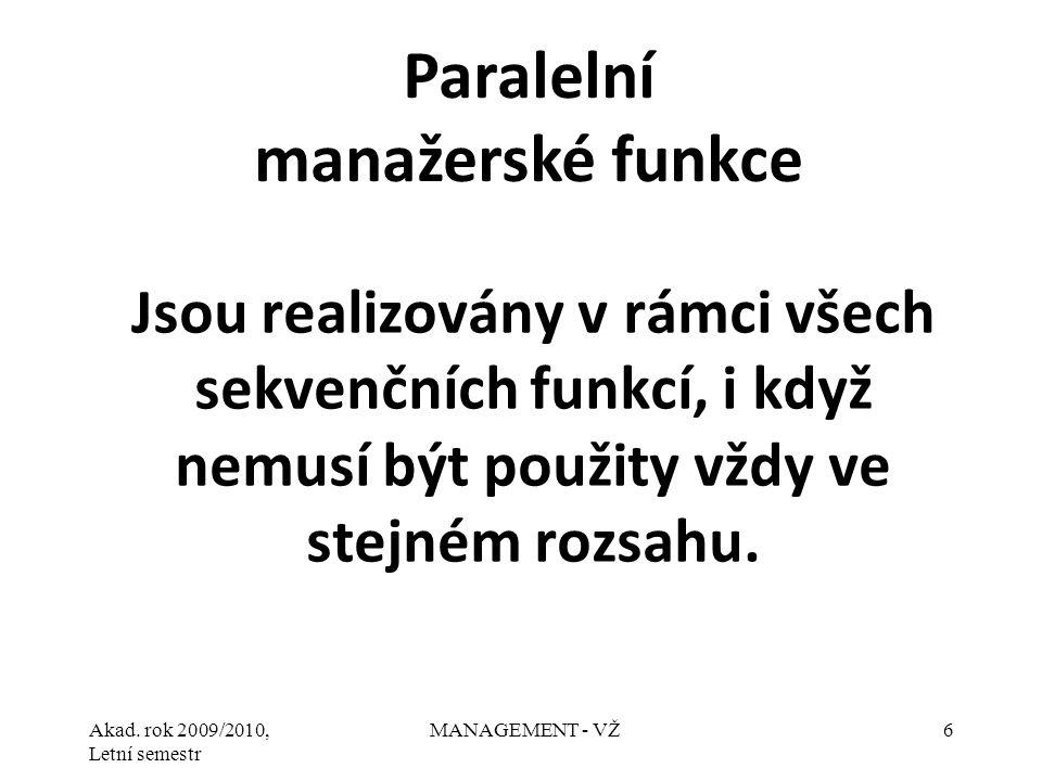 Paralelní manažerské funkce
