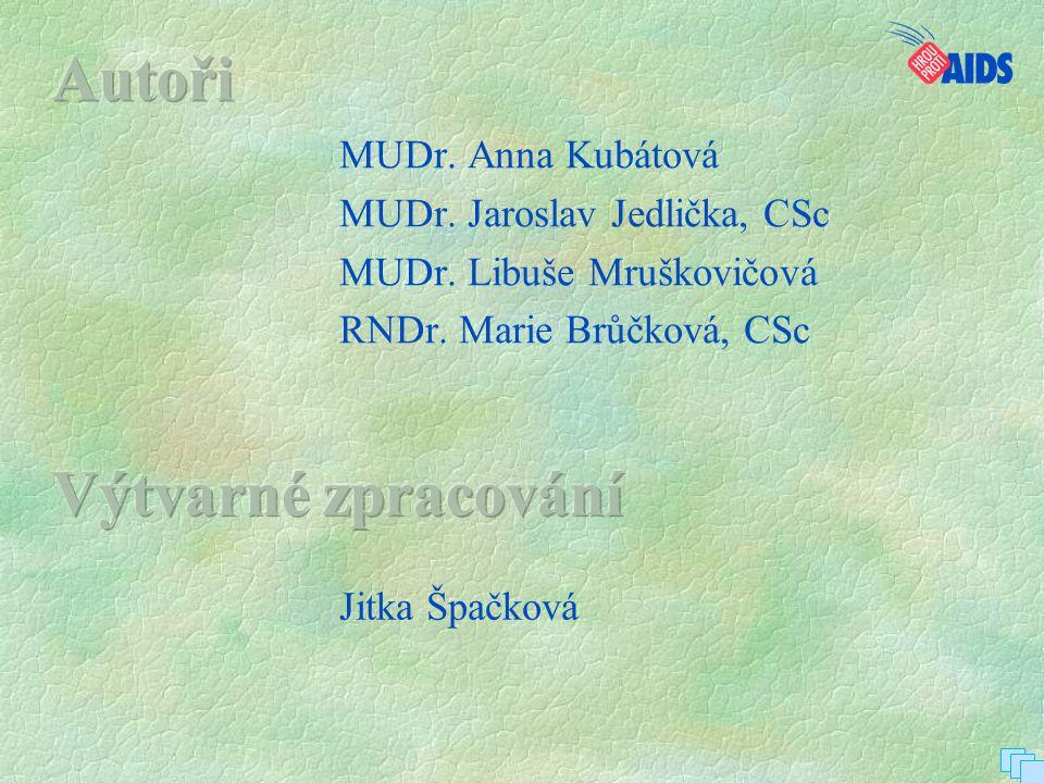 Autoři Výtvarné zpracování MUDr. Anna Kubátová