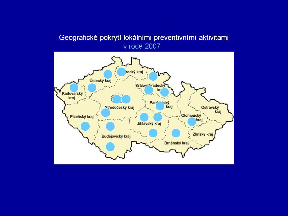 Geografické pokrytí lokálními preventivními aktivitami