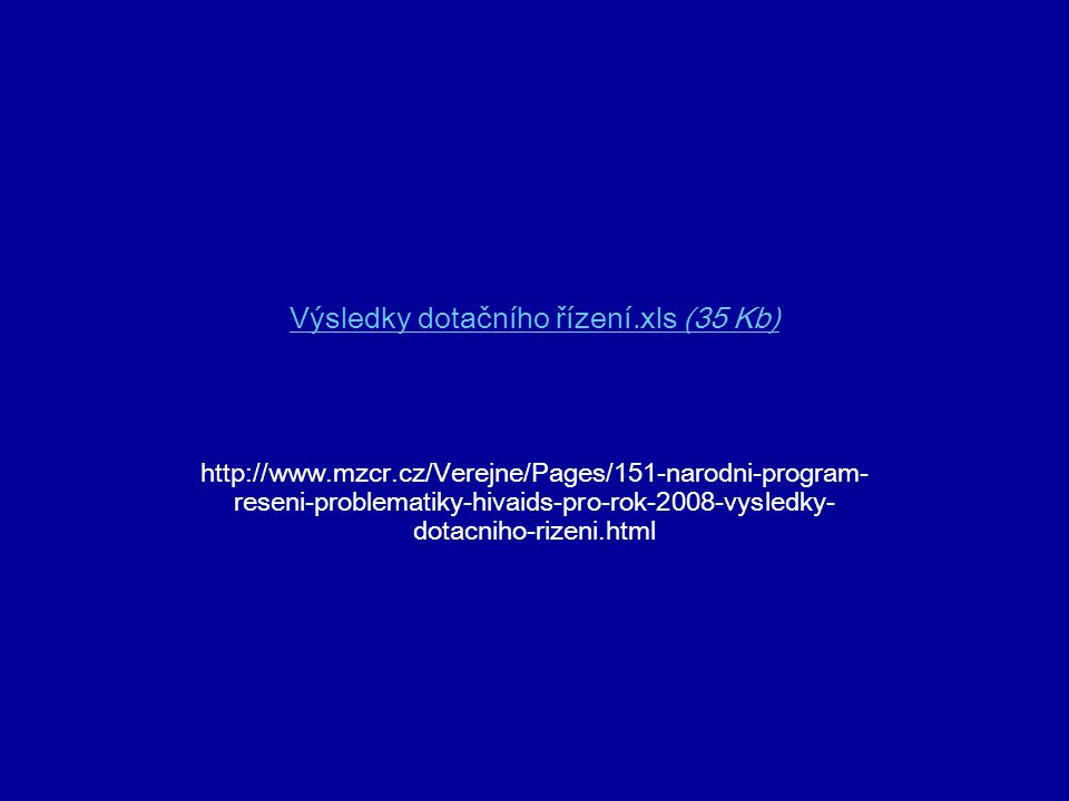 Výsledky dotačního řízení.xls (35 Kb)