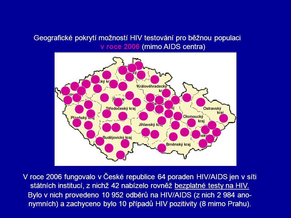 Geografické pokrytí možností HIV testování pro běžnou populaci
