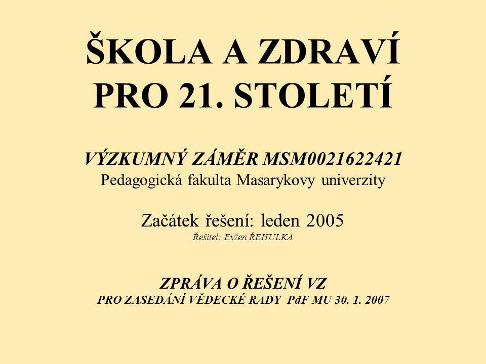 ŠKOLA A ZDRAVÍ PRO 21. STOLETÍ